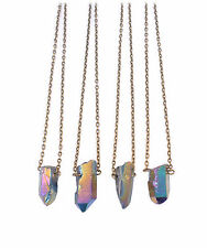Balle Cristal Galaxy Pierre court necklace-vintage boho-rainbow quartz bijoux