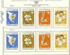 MAHRA STATE SOUTH ARABIA ADEN YEMEN 1967 BOY SCOUTS 4V PERF+IMPERF FREE SHIP