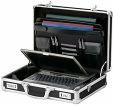 Vaultz Locking Laptop Case, Black (VZ01216) Holder Travel Computer Bag Briefcase