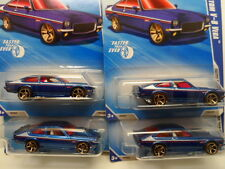 HOT WHEELS 2010 Faster Than Ever 1972 CHEVY VEGA #129 Blue Diecast Car LOT OF 4