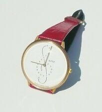 VINTAGE ALFEX QUARTZ Musical Note Watch Leather stone detail Swiss Women Fashion