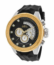 Invicta 16923 Men's I-Force Chrono Black Silicone and Dial 18K Gold Plated SS