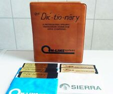 Apple 2: Dic-tio-nary - Dictionary - Sierra  On-Line 1982