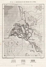 ARKHANGELSK BOUCHES DE LA DIVINA CARTE MAP PLAN RUSSIE RUSSIA IMAGE 1883 PRINT