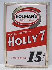Old HOLIHAN'S Ale - Beer Sign Diamond Spring Brewery Mass Bar Pub Tavern Advert