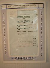 Microscale decal 60-311 N spur APL/Sea Land/ japan Lines 20 & 40' Containers