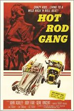 HOT ROD GANG american international 1958 VINTAGE MOVIE POSTER sexy hot 24X36