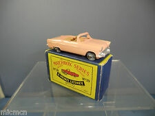 MATCHBOX MOKO LESNEY MODEL No.39a FORD ZODIAC CONVERTIBLE ( RARE )  VN MIB
