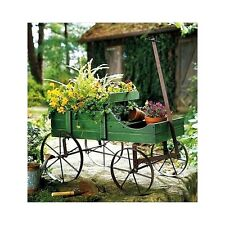 Wooden Garden Planter Wagon Flowers Display Outdoor Decorative Patio Furniture