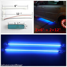 "4pcs Blue Car Undercar Underbody Neon Kit Lights CCFL Cold Cathode Tube 6""+12"""
