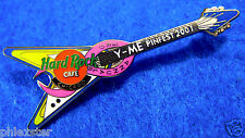 LE5 CHICAGO PROTOTYPE Y-ME PINK RIBBON BREAST CANCER GUITAR Hard Rock Cafe PIN