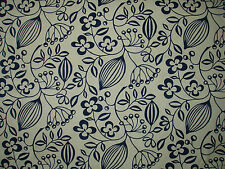 "HARLEQUIN SCION CURTAIN FABRIC DESIGN  ""Sorbus"" 9 METRES NATURAL & INDIGO (900CM"
