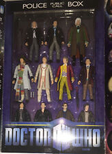 Dr. Who The 11 Doctors Figure Set Police Public Call Box NEW