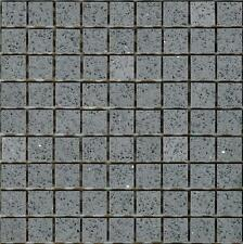 Grey Starlight Stardust Quartz Mirror Fleck Mosaics Sheet Tile Splashback