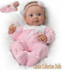 "Ashton Drake ""ADORABLE ADDISON"" -LIFELIKE BABY GIRL DOLL-NEW-IN STOCK NOW"