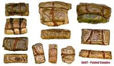 1/35 Scale resin kit Tents & Tarps Set  #7 Military model stowage