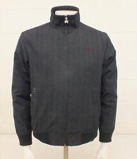 Billabong Gray Plaid Cotton Blend Jacket Men's Small Satisfaction Guaranteed