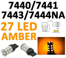 7440/7443 T20 27 SMD 5050 LED Amber Yellow Tail Turn Signal Car Light Bulb Lamp