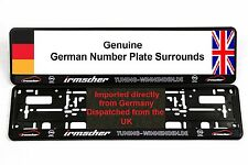 OPEL / IRMSCHER NUMBER PLATE SURROUNDS CORSA VXR
