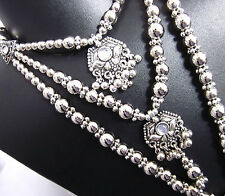New Rabari Silver Beads COSTUME JEWELRY Bellydance Tribal Necklace Earring Goth