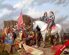 OLIVER CROMWELL AT BATTLE OF NASEBY PAINTING ENGLISH CIVIL WAR ART CANVAS PRINT