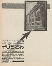 Z8634 Accumulateur TUDOR - Pubblicità d'epoca - 1926 Old advertising