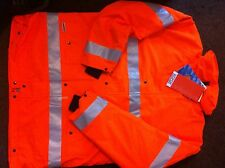 Sioen  Orange 100% Waterproof Breathable Hi Vis Jacket X/l