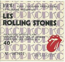 RARE / TICKET BILLET CONCERT - THE ROLLING STONES : LIVE A LYON ( FRANCE ) 1976