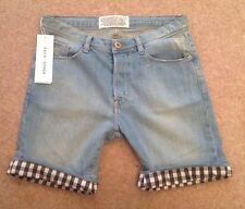Each X Other Designer Denim Gingham Trim Shorts EU Size 25 RRP £180