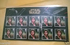 STAR WARS Stamps Han Solo+Darth Vader+Collector sheet+Obi Wan KENNER statue