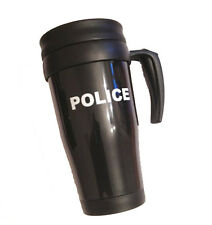 POLICE Black Travel Thermo Mug for Officers, PCSO, Cop, Constable, Sergeant