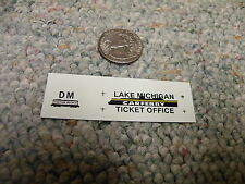 Herald King decals HO 1/87 Lake Michigan Car Ferry Ticket Office  XX249