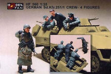 Hobby Fan 1:35 Scale German SD.KFZ 251/1 Crew 4 Figures Resin HF-560