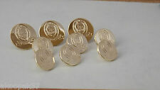 OFFICER CADET SCHOOL PORTSEA BUTTON SET 3 LARGE AND 6 SMALL GOLD PLATED