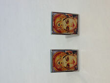 VINTAGE LORD SRI KRISHNA  INDIAN HINDU GOD MEN'S SILVER-TONE CUFFLINKS MINT RARE