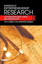 Handbook of Entrepreneurship Research: An Interdisciplinary Survey and-ExLibrary