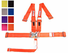 """5 POINT HANS SFI 16.1 RACING HARNESS 3"""" ALL WRAP BELT ORANGE OR ANY COLOR"""