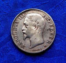 MONNAIE DE 5F ECU NAPOLEON III TETE NUE EMPEREUR  EN ARGENT 1856 A PARIS