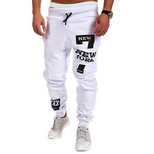Mens Sport Trousers Sweat Pants Jogging Joggers Tracksuit Hiphop Cuffed Bottoms