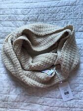 THE WHITE COMPANY Biscuit Marl Chunky Stitch Snood Scarf, BNWT £75