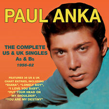PAUL ANKA New Sealed 2017 COMPLETE As & Bs 1956 - 62 2 CD SET