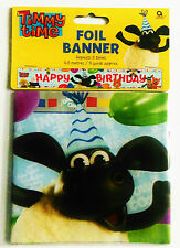 Happy Birthday Timmy Time Foil Banner Children's Party Decoration - 4.5cm long
