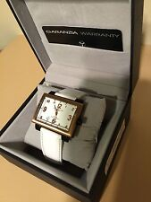 Montres De Luxe 16:9 estremo white rose gold Quartz Dial Watch NEW in  Box