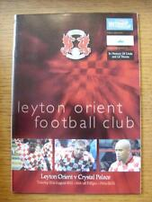 21/08/2001 Leyton Orient v Crystal Palace [Football League Cup] (No Apparent Fau