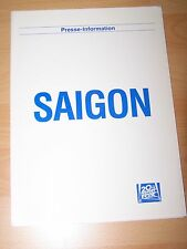 SAIGON - Presseheft ´87 - Willem Dafoe GREGORY HINES Fred Ward SCOTT GLENN