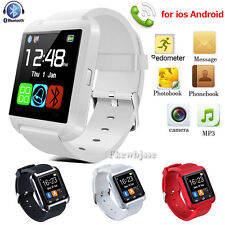 Bluetooth Wrist Smartwatch Relojes inteligent For Iphone Android samsung Blanco