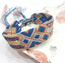 Friendship Bracelet 1 Woven  Hand made Guatemalan Omega Wide Style Fair Trade