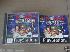 JEU PLAYSTATION PS1  WORMS WORLD PARTY   COMPLET EN FRANCAIS