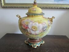 Rare Antique Royal Bonn Germany Handpainted Porcelain Urn Pot Covered Vase Matt