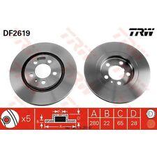 Bremsscheibe, 1 Stück TRW DF2619